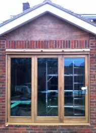 Home extension patio doors